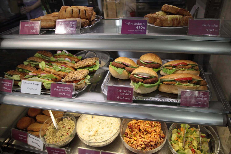 Bakery vegetarian restaurants budapest
