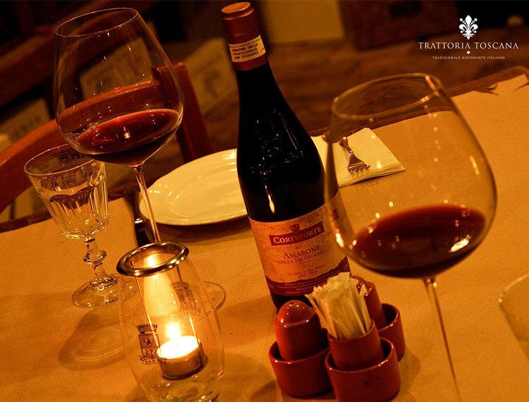 Trattoria Toscana cena romantica budapest