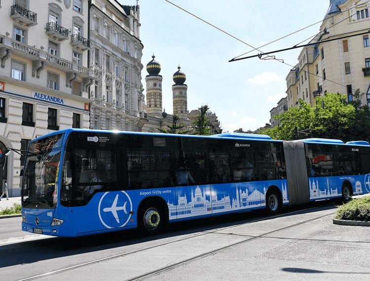 flughafen budapest bus 100e