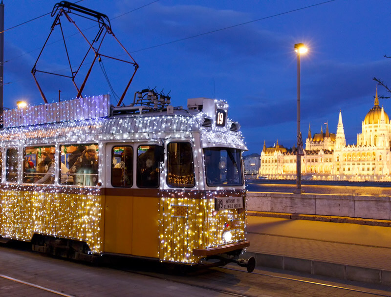 tramway de Noel a Budapest 2019