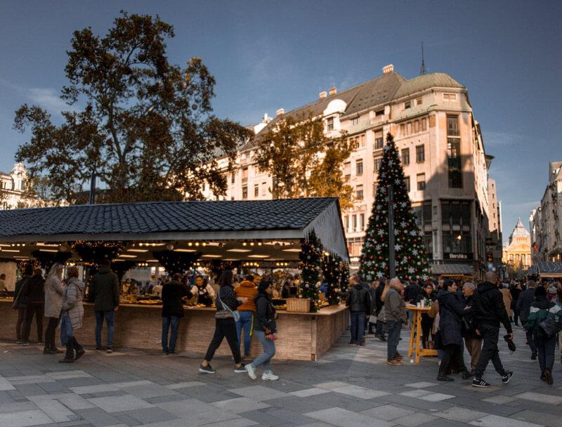 marché de noel budapest 2019 à Vörösmarty tér