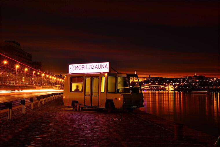 mobile sauna Valentine's Day in Budapest